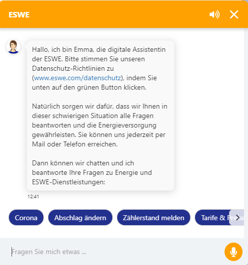 Screenshot ESEW-Chatbot Emma