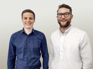 Syneco-Experten Tiemo Wennrich (links) und Sebastian Holzer