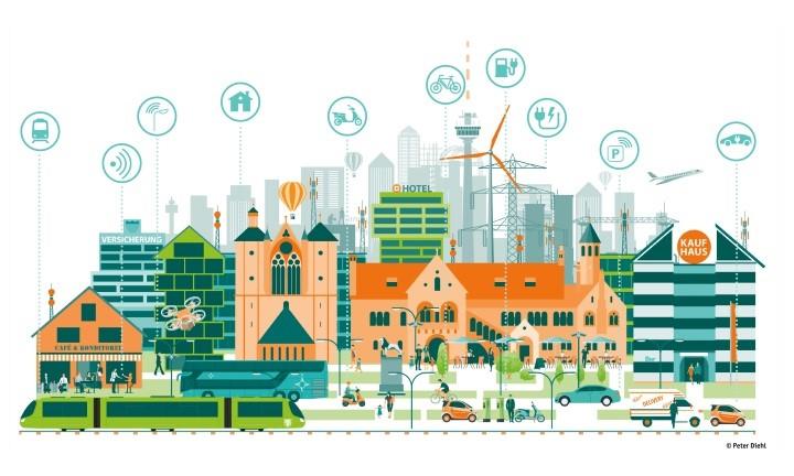 Smart City: Symbolgrafik