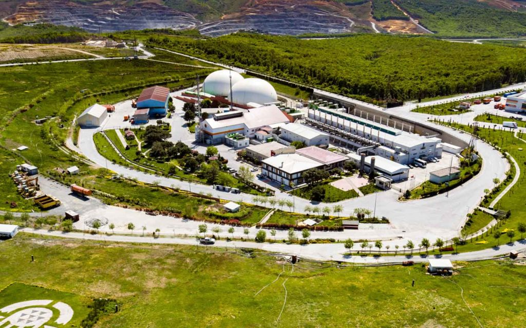 Luftbild der Gasaufbereitungsanlage in Istanbul