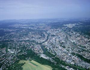 Luftbild von Pforzheim