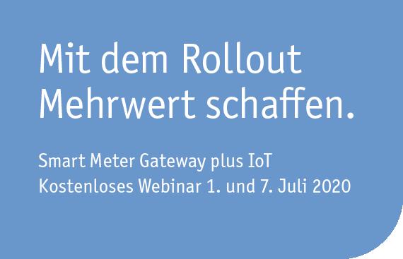 Kostenloses Webinar: Smart Meter Gateway plus IoT