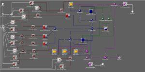 Beispielhafte Darstellung des Modells zur optimierten Vermarktung der freien Flexibilitäten von Blockheizkraftwerken (Bildquelle: Syneco)